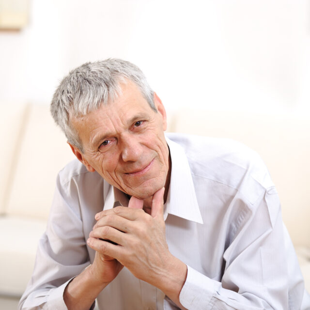 man considering moving to a retirement home